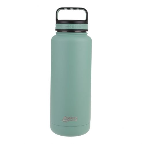 """OASIS STAINLESS STEEL DOUBLE WALL INSULATED """"TITAN"""" BOTTLE 1.2L - SAGE GREEN"""