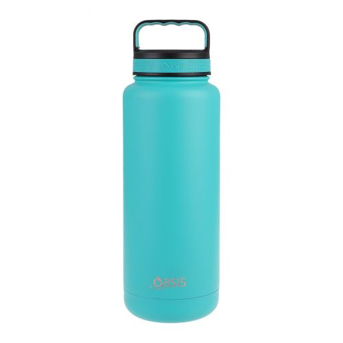 """OASIS STAINLESS STEEL DOUBLE WALL INSULATED """"TITAN"""" BOTTLE 1.2L - TURQUOISE"""