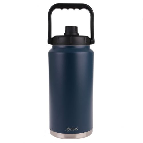 OASIS STAINLESS STEEL DOUBLE WALL INSULATED JUG W/ CARRY HANDLE 3.8L - NAVY