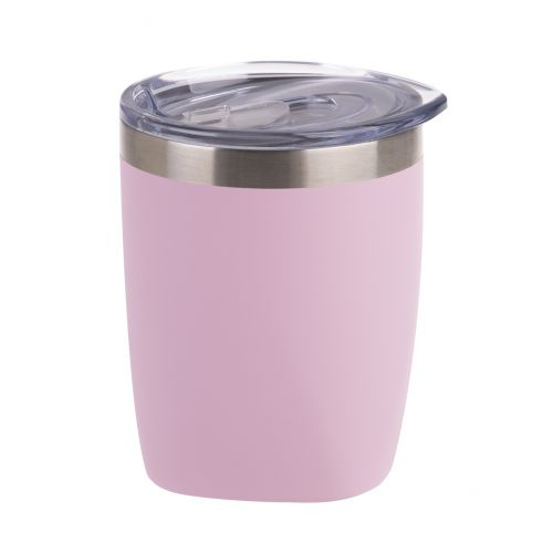 OASIS STAINLESS STEEL DOUBLE WALL INSULATED OLD FASHION TUMBLER 300ML - MATTE CARNATION