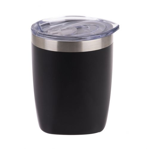 OASIS STAINLESS STEEL DOUBLE WALL INSULATED OLD FASHION TUMBLER 300ML - MATTE ONYX