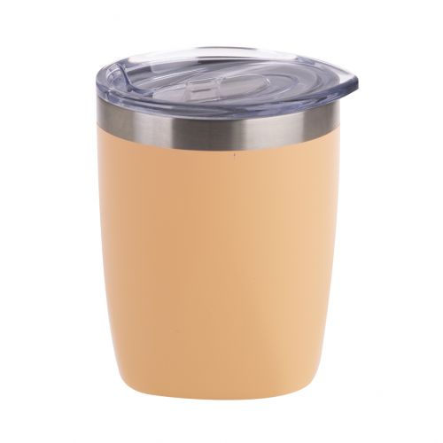OASIS STAINLESS STEEL DOUBLE WALL INSULATED OLD FASHION TUMBLER 300ML - MATTE ROCKMELON