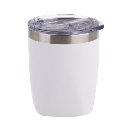 OASIS STAINLESS STEEL DOUBLE WALL INSULATED OLD FASHION TUMBLER 300ML - MATTE WHITE