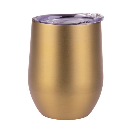 OASIS S/S DOUBLE WALL INSULATED WINE TUMBLER 330ML - CHAMPAGNE GOLD