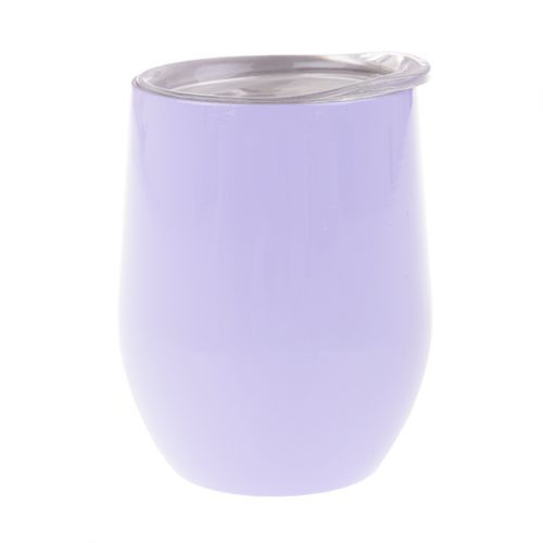 OASIS STAINLESS STEEL DOUBLE WALL INSULATED WINE TUMBLER 330ML - LILAC