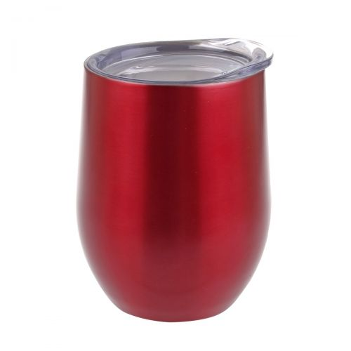 OASIS STAINLESS STEEL DOUBLE WALL INSULATED WINE TUMBLER 330ML - RUBY
