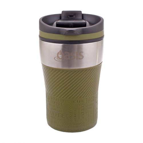 "OASIS ""CAFÉ"" S/S DOUBLE WALL INSULATED TRAVEL CUP 280ML - AVOCADO"