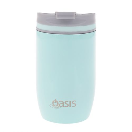 OASIS S/S DOUBLE WALL INSULATED TRAVEL CUP 300ML - SPEARMINT