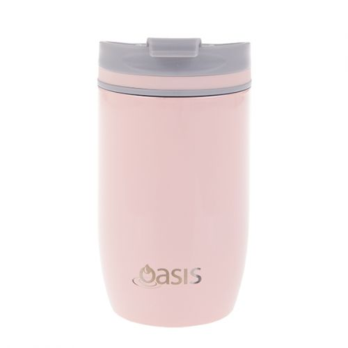OASIS S/S DOUBLE WALL INSULATED TRAVEL CUP 300ML - SOFT PINK