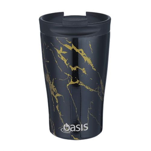"OASIS S/S DOUBLE WALL INSULATED ""TRAVEL CUP"" 350ML - GOLD ONYX"