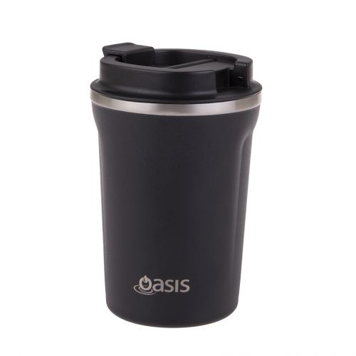 OASIS STAINLESS STEEL DOUBLE WALL INSULATED TRAVEL CUP 380ML - MATTE BLACK