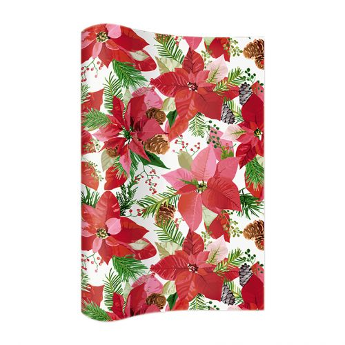 PAPER+DESIGN TABLE RUNNER - SHINY POINSETTIA
