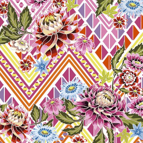 PAPER+DESIGN LUNCHEON NAPKINS - MEXICAN FLOWERS