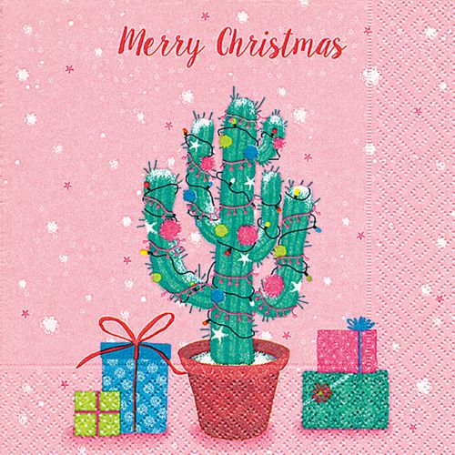 PAPER+DESIGN LUNCHEON NAPKINS - DECORATED CACTUS