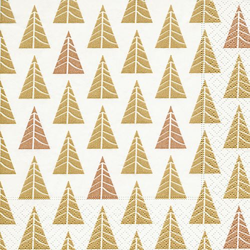 PAPER+DESIGN LUNCHEON NAPKINS - POINTED TREES - GOLD
