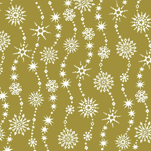 PAPER+DESIGN LUNCHEON NAPKINS - CHRYSTAL WAVES - GOLD